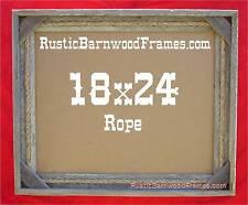 18x24 Rope rustic barnwood barn wood photo frame primitive weathered aged beach