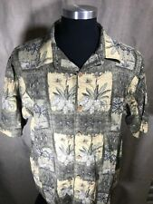 Clearwater Outfitters XL Shirt Tropical Beach Yellow, Green Mens