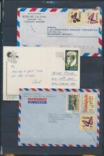 XC75870 Ecuador Grenada butterfly stamps covers used