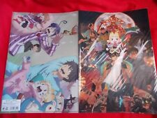 NEW! THE MOVIE BLUE EXORCIST Ao no / TWO A4 Size CLEAR FILE FOLDERS SET / UK DSP
