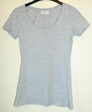 Weißes ärmelloses Shirt mit rundem Ausschnitt Gr. S/M oder 152