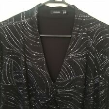 Eve Hunter Plus Size 18 Black And Silver Evening Dress Top