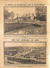 Ruines du Château de Courdemanges Bataille de la Marne/Lotz Poland  WWI 1914