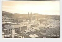 RPPC REAL PHOTO POSTCARD FOREIGN MEXICO TAXCO AERIAL VIEW OF CITY