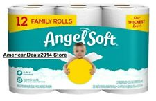 Angel Soft Toilet Roll 12 Family Rolls 2 Ply - 2-4 Days Fast Shipping!