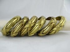 6 Superb Antique French Bronze Curtain Rings Drape - Crossed Ribbons Louis XVI