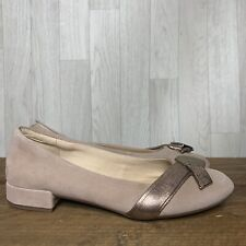 CLARKS • Pink Suede Cushion Plus Slip On Shoes • Size UK 5 D EUR 38