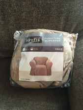 SURE FIT Furniture Slipcover – Suede Taupe Chair