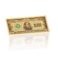 WR 1981 US $10000 Dollar Bill Note Color Gold Foil Banknote America Novelty Gift