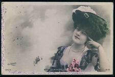 bb Elsa de Mendes Theater theatre Edwardian lady 1900-1910s photo postcard