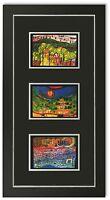 Bild Kunstdruck Friedensreich Hundertwasser Galeriebild mit Rahmen -30% SALE HW4