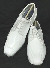 Para hombres zapatos de Jean Yves Cosmopolitan Blanco Esmoquin Boda Novio Baile de Graduación Talla 8 de ancho