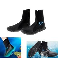 5mm Neoprene Wetsuit Boots for Scuba Diving Surf Winter Swim Kayak Water Sports