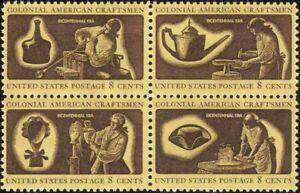 USA 1972 Revolution 200th/Colonial Crafts/Hat/Wig/Glass 4v set blk (n43505h)