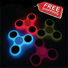 Glow in the Dark Hand Spinner Tri Fidget Focus Tool Desk Toy Stocking Stuffer