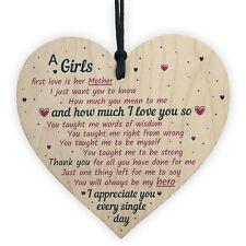 Gifts For Mum Girls First Love Wooden Heart MUM Mummy Best Friend Gift For Her