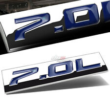 ALUMINUM STICK ON POLISHED CHROME BLUE 7.0L 7.0 L DECAL EMBLEM TRIM BADGE LOGO