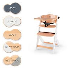 Kinderkraft Kinderhochstuhl aus Holz ENOCK 3in1 Niedriger Stuhl bis 10 Jahre
