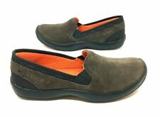 CROCS AnyWeather #12410 WOMENS 8 Brown SUEDE Slip-On Loafers LIGHT WEIGHT Shoes