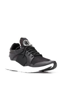 Alexander McQueen McQ Gishiki Black Leather Trainers Sneakers