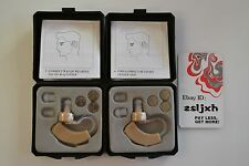 2 NEW BEHIND THE EAR SOUND AMPLIFIER HEARING AID AIDS WITH 6 PCS BATTERIES