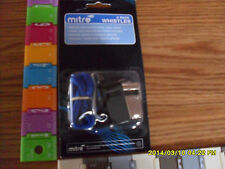 WHISTLE TWO PACK MITRE: INCLUDES 1EA BRASS & 1EA PLASTIC WHISTLE WITH LANYARDS!!