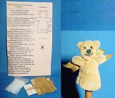 Miniature Teddy Bear Puppet Pattern Kit for making Teddy Bear puppet