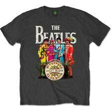 The Beatles T Shirt Sergeant Pepper Official Mens Grey Tee NEW All Sizes. Sgt
