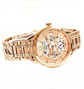 GUESS Watch Women's Watch GW0253L3 Clear Cut Stainless Steel IP Rose Gold New