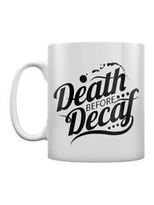 Mug Death Before Decaf White