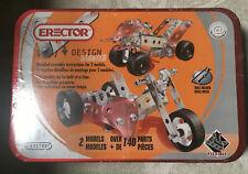 Erector Set Meccano Design Starter 2 Models Over 140 Pieces Sealed
