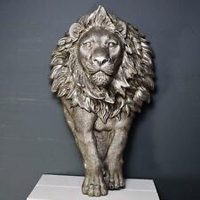 More details for large lion wall plaque sculpture decoration wild animal decor