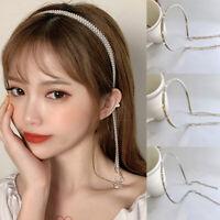 Vintage Women Crystal Chain Hairband Wedding Tiara Crown Hair Accessories Party