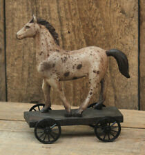Small Vintage Style Horse On Wheels - Farmhouse, Country, Primitive
