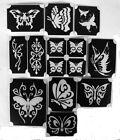 bm2017 set butterflies GLITTERTATTOO 11 diff stencils glitter tattoo