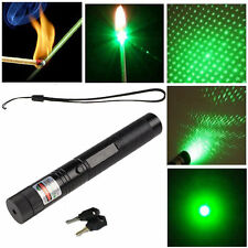Powerful 532nm Green Laser Pointer Pen Adjustable focus Visible Beam Light Star