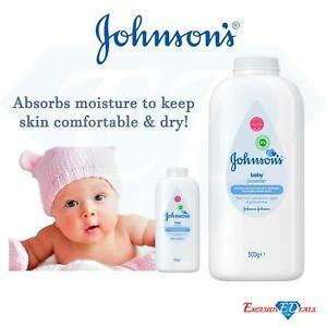 Baby Talcum Powder Skin Care Johnson & Johnson Absorbs Moistuer 500g