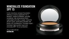 MAC Mineralize Foundation NC30 - NIB, 100% AUTHENTIC, FAST SHIP - DISCONTINUED