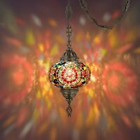 """Mosaic Lamp,15 feet chain chandelier hanging on the ceiling.(6.5""""Red Eye Globe)"""