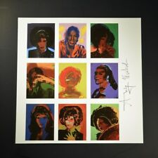 "Andy Warhol, ""Ladies and Gentlemen"".  Print from VIP Book.  Hand signed. w/ COA."