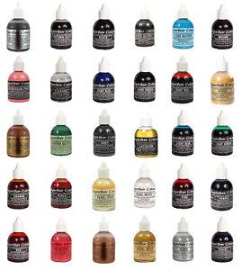 Sugarflair AIRBRUSH Edible Liquid Colours - 60ml All Shades