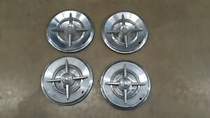 "1957 Dodge Lancer Set Of 4 14""Knight Head Hubcap Hubcaps Hub Caps NICE!! OEM"