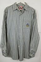 Mickey Inc Men's Mickey Button Front Long Sleeve Shirt Size Large Casual