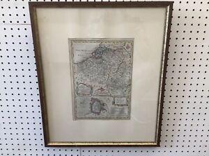"C. 1760 Emmanuel Bowen Map Of Belgium & The City Of Mons 22.5 x 18.75"""