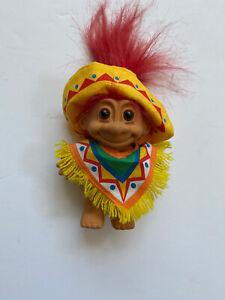 """Vtg Russ Native American Indian Troll Doll 5"""" Trolls Clothes Southwestern"""