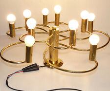 Space Age Lampe 70er Messing Spirale Brass Cosack Leola Ära Ø 60 cm