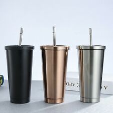 Stainless Cteel Coffee Cup 500ml Mug With Lid Beer Mug Straw Travel Mug Car Mug