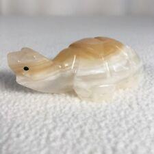 Vintage Onyx Marble Sea Turtle Figurine Miniature 3� Handmade Pretty Layers Cute