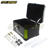 Aluminum Motorcycle Top Case Rear Trunk Box Luggage For Honda Suzuki BMW Cruiser