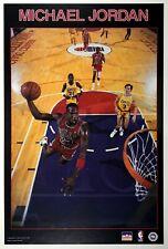 1987 Starline MICHAEL JORDAN Chicago Bulls Poster Dunking on the Lakers
